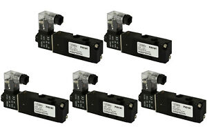 5x 24v Dc Solenoid Air Pneumatic Control Valve 5 Port 4 Way 2 Position 1 8 Npt