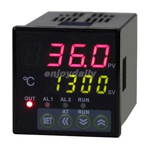48x48 Din Dual 4 digit Digital Pid Temperature Controller thermocouple Ssr