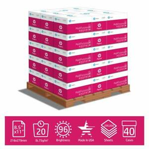Hp Paper Multipurpose Ultra White 20lb 8 5x11 96 Bright 112000plt 200k Sheets