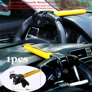 Anti Theft Security Rotary Steering Wheel Lock Top Mount For Suv Auto Car Great