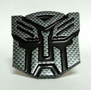 Black Transformers Autobot Badge Emblem Decal Trunk Sticker For Justic Brave Ma