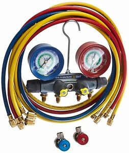 Brand New Yellow Jacket 46101 Brute 4 Valve Manifold Set 72 Hoses