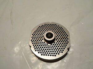 Lightly Used Kasco Meat Grinder Plate Part No 9 64 3 7 8 O d 1 2 Bore