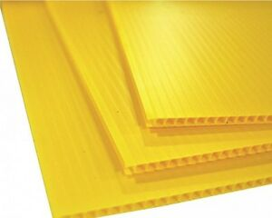 4 Pack 4mm Yellow 24 X 36 Corrugated Plastic Coroplast Sheets Sign Vertical