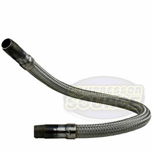 1 2 X 24 Stainless Steel Compressed Air Line Metal Flex Hose Compressor Tube