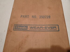 Lincoln Part No 350728 Heater Cover Fresh o matic Sealed In Org Pkg