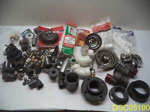 85 Piece Lot Plumbing Fittings Braided Hoses Facet Toilet Parts Shower Head
