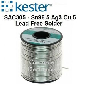 Kester Lead free Solder 24 7068 7607 275 no clean Flux Sn ag cu 062 2