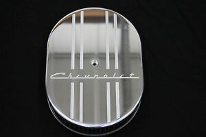 New Style Chevrolet 12 Inch Oval Air Cleaner Billet Aluminum 2 Inch K