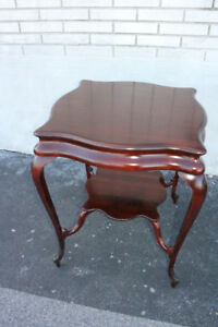 French Louis Xvi Solid Mahogany American Made Center Side End Table B G Co