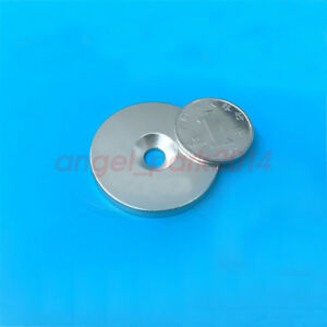Wholesale 40mm X 5 Mm Hole 6mm Neodymium Disc Super Strong Rare Earth Magnet N50