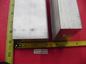 2 Pieces 1 1 2 X 3 Aluminum 6061 Flat Bar 9 Long T6511 Solid Plate Mill Stock