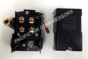 Furnas Replacement Air Compressor Pressure Switch Four Port 95 125 Psi