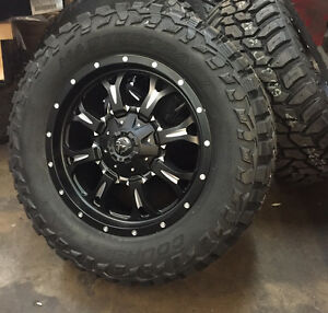 20 Fuel D517 Krank Black Wheels 35 Mud Tires 8x6 5 Dodge Ram 2500 3500 8 Lug