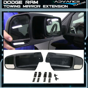 For 09 14 Dodge Ram 1500 Oe Factory Style Side View Towing Mirror Extension Pair