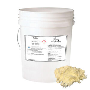 Sulfur Powder 99 9 Pure Min 50lb Bag