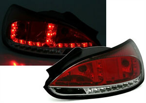 Clear Red Led Rear Tail Lights For Vw Scirocco 3 5 2008 Onwards Nice Gift