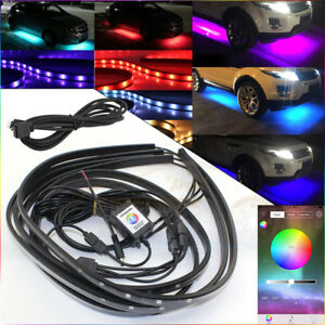 Rgb Led App Strip Under Car Tube Underbody Glow System Neon Light With Extension