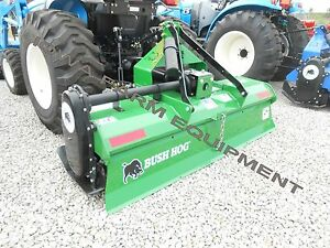 Rotary Tiller Bush Hog Rt72g 72 Gear Drive 3pt Pto Tiller 35 55hp made In Usa