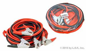 20 Ft 2 Ga Commercial Heavy Duty Jumper Booster Cables Jumping Power New 3 Pk