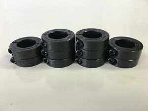 10pcs 3 8 Inch Single Split Shaft Stop Collar Black Oxide Finish 1sc 037