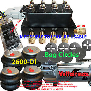 Air Ride Suspension Manifold Valve 1 2 Air Bag Kit Control Bags brkts