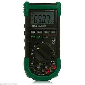 Mastech Ms8268 Auto Rangedigital Multimeter Sound Light Alarm Fusefrequency Test