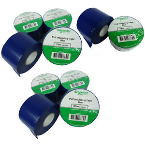 10 Roll 2 x 36y Insulated Electrical Vinyl Pvc Sealing Tape Flame Retardant Blue