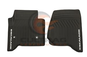 2015 2019 Cadillac Escalade Gm Front All Weather Floor Mats Black 23452752