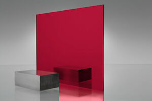 5 Pack 1 8 Red Mirrored Acrylic Plexiglass Sheets 12 X 12
