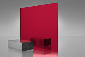 Red Mirror Acrylic Plexiglass Sheet 1 8 X 24 X 24