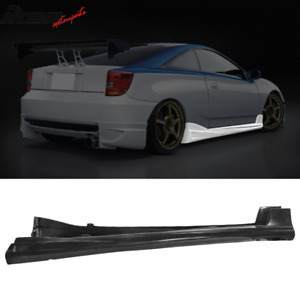 Fits 00 05 Toyota Celica Vip Style Side Skirts Unpainted Black Pu Poly Urethane