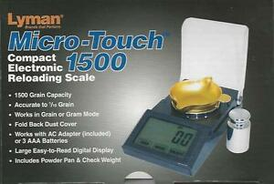 Micro-Touch 1500 Compact Electronic Reloading Scale wCalibration Weight