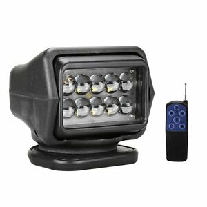 12v Cree Wireless Led Searching Spot Light Remote Control Worklight 50w Lamp
