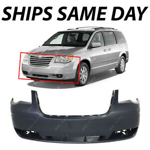New Primered Front Bumper For 2008 2010 Chrysler Town Country W out Hl Wash