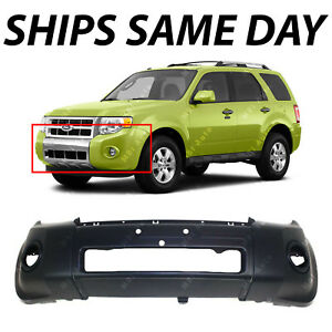 New Primered Front Bumper Cover Replacement Fascia For 2008 2012 Ford Escape