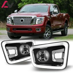 16 19 For Nissan Titan Clear Lens Pair Oe Fog Light Lamp Wiring Switch Kit Dot