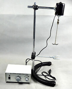 New 40w Electric Overhead Stirrer Mixer Variable Speed 110v