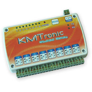Rs232 Serial Com Controlled 8 Channel Relay Board Box 12v