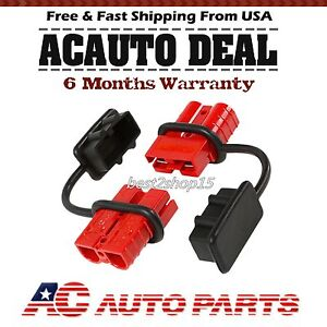 Battery Quick Connect Plug 2 4 Gauge Driver Kit Recovery Winch Trailer 175 Amps