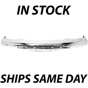 New Chrome Steel Front Bumper Face Bar For 2004 2012 Gmc Canyon Pickup 04 12