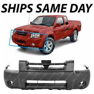 New Textured Black Front Bumper Cover For 2001 2004 Nissan Frontier Pickup