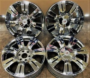 18 Inch Cadillac Srx Oem Factory Wheels Rims 4set 4664 Chrome Clad Covers