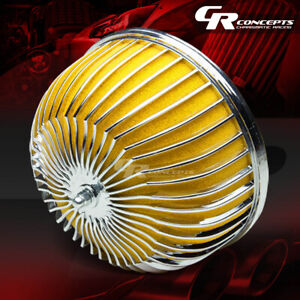 3 High Flow Short Ram Cold Air Intake Mushroom Style Yellow Rubber Filter Clamp