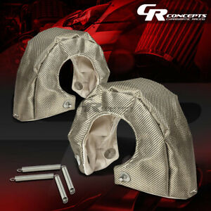 T4 Gt35 Gt37 Gt40 Gt45 Gt47 Dual Turbo Charger Titanium Heat Wrap Blanket Cover