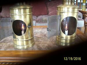 Nautical Ship Lantern Antique Brass 3 Way Table Lamps With Lower Night Light