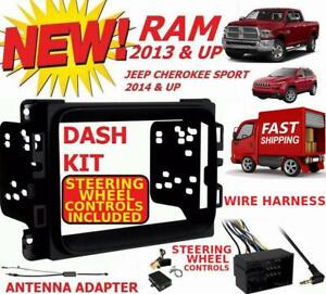 2013 2017 Ram Double Din Car Stereo Installation Dash Kit harness antenna