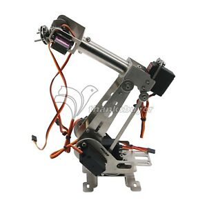 6 Axis Mechanical Robotic Arm Clamp With Servos Diy Kit For Arduino Raspberry