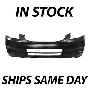 New Primered Front Bumper Cover Replacement For 2011 2012 Honda Accord Sedan
