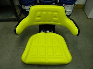 Yellow Vinyl Seat Relacement Fits J D Tractors With Mechanical Suspension